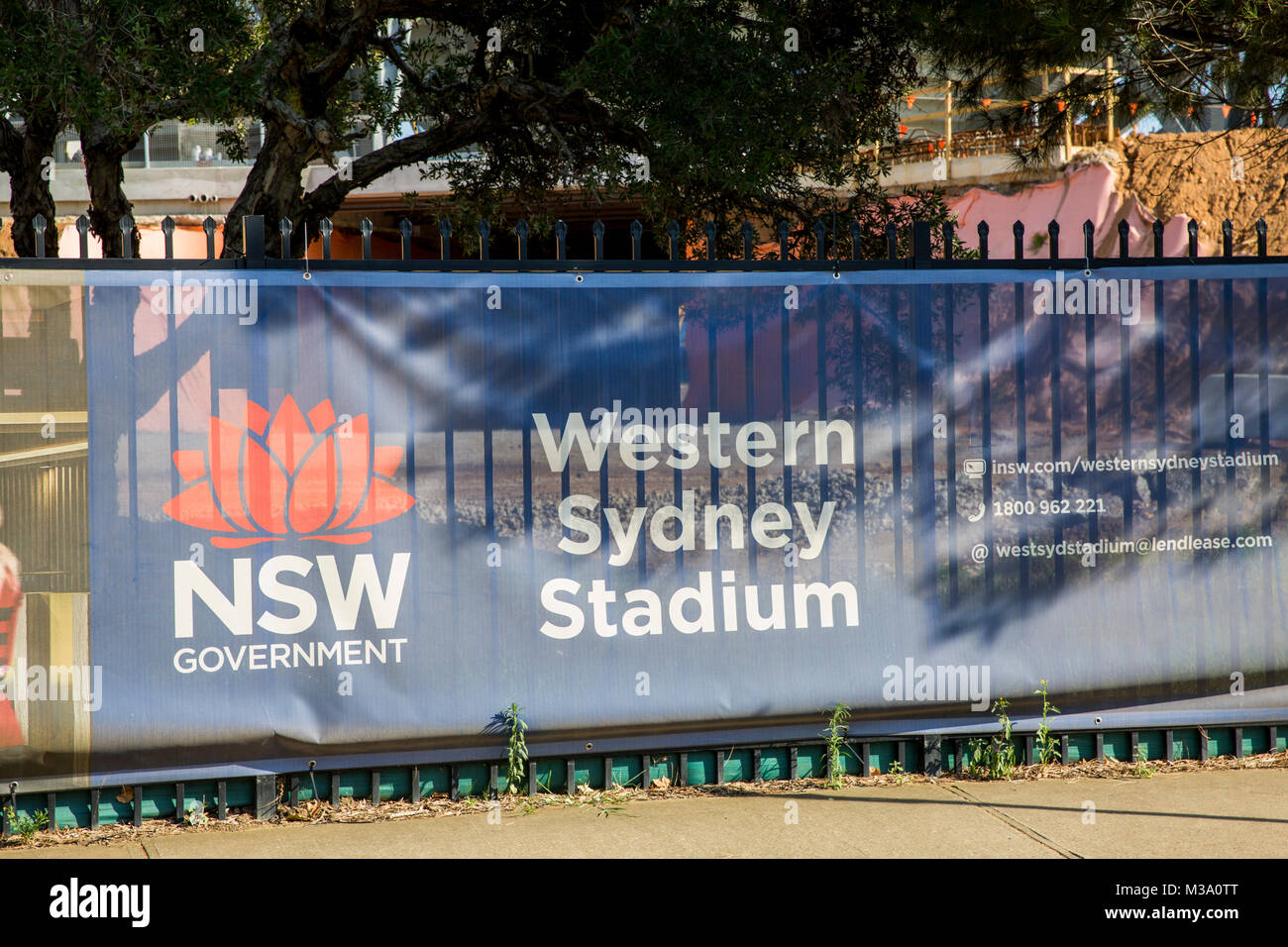 The New South Wales government is building a new Western Sydney sports stadium in Parramatta, Sydney,Australia - Stock Image