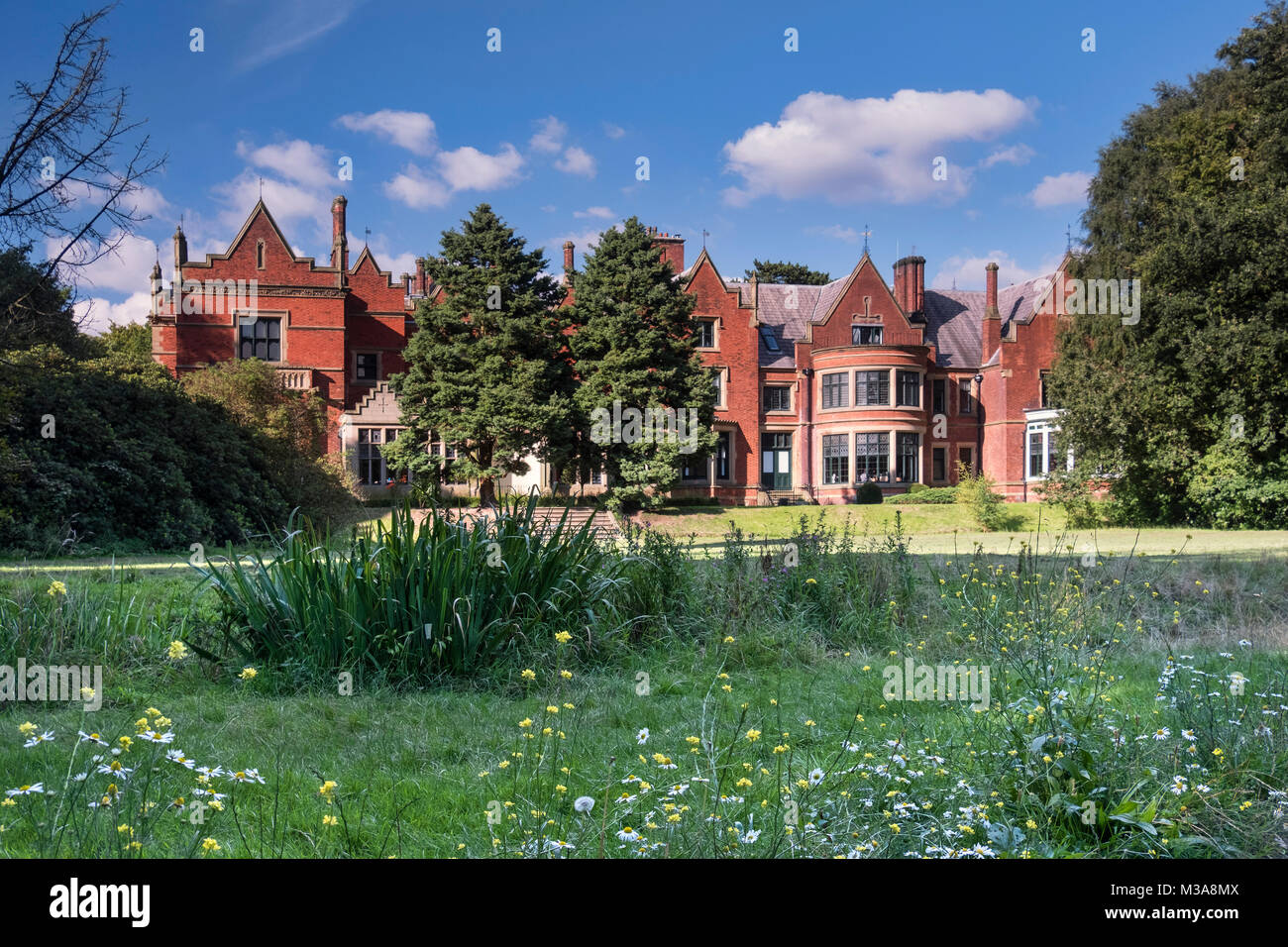 Abney Hall, Abney Hall Park, Cheadle, near Stockport, Greater Manchester, England, UK - Stock Image