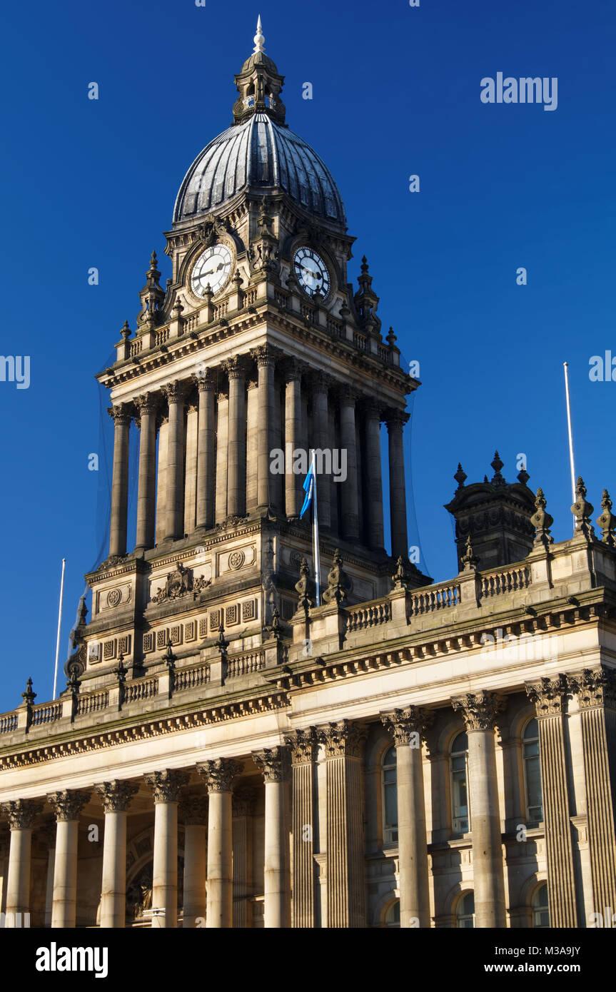 UK,West Yorkshire,Leeds City Hall - Stock Image