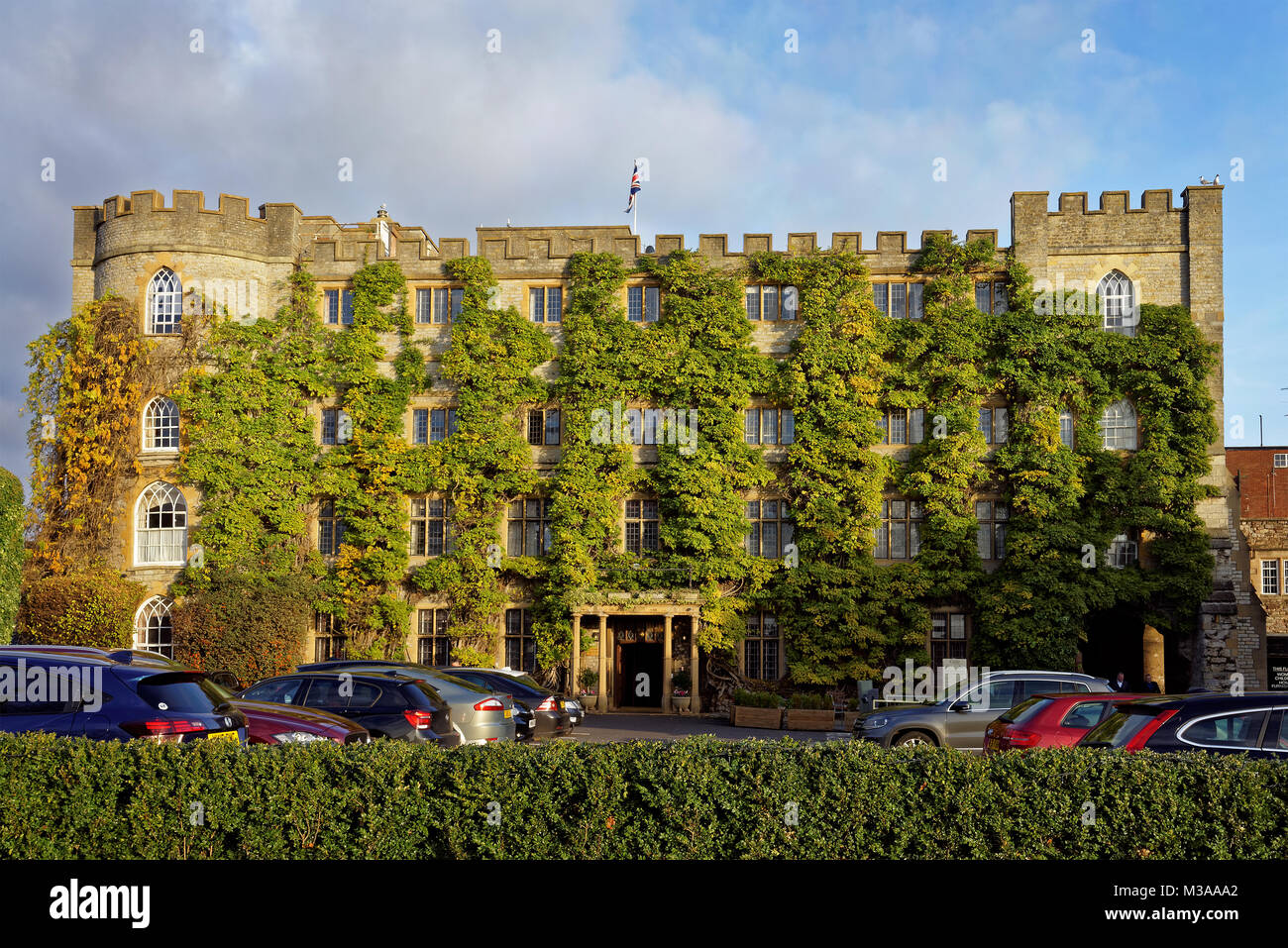 UK,Somerset,Taunton,Castle Hotel - Stock Image
