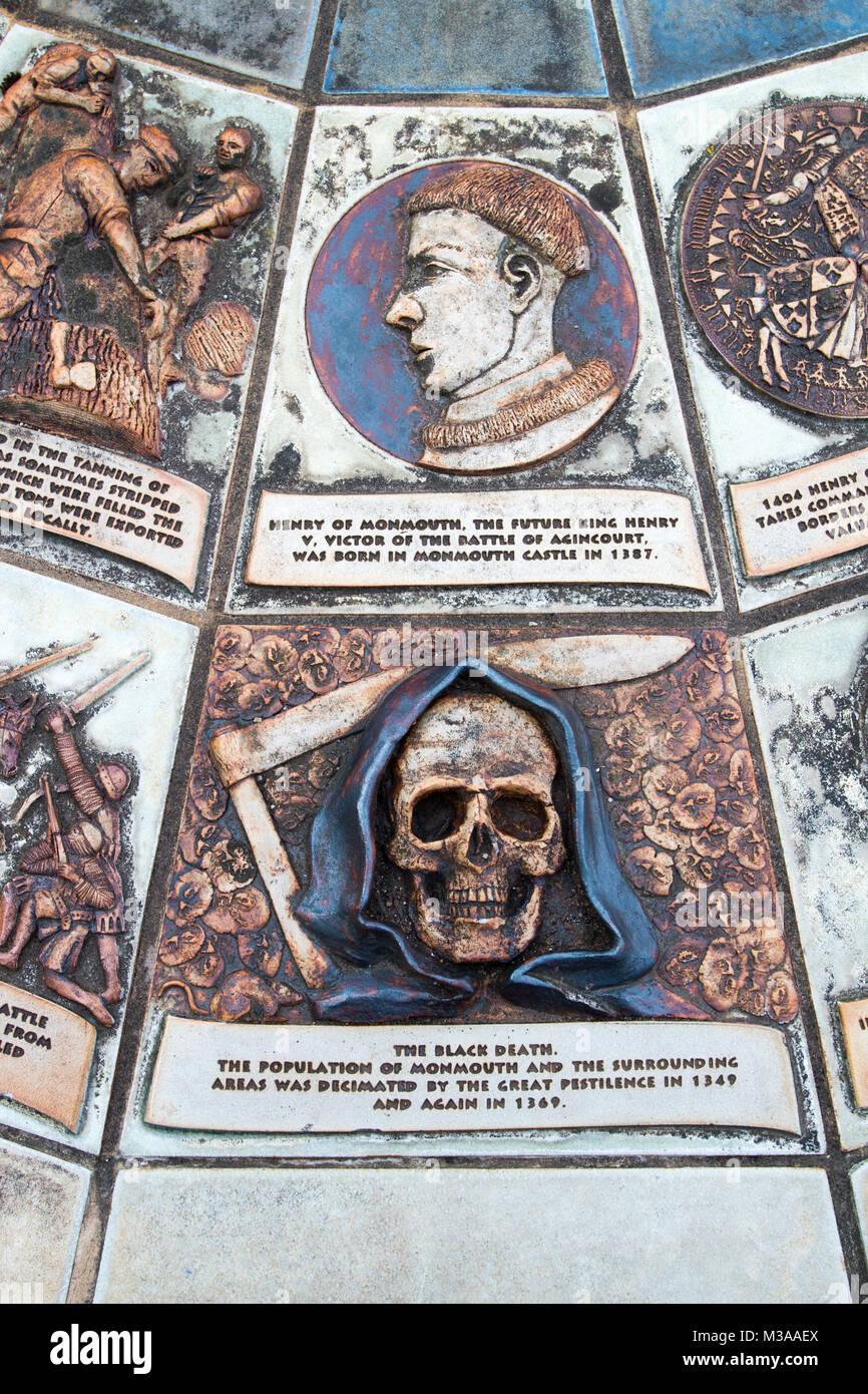 BLACK DEATH: Grim Reaper - Stock Image