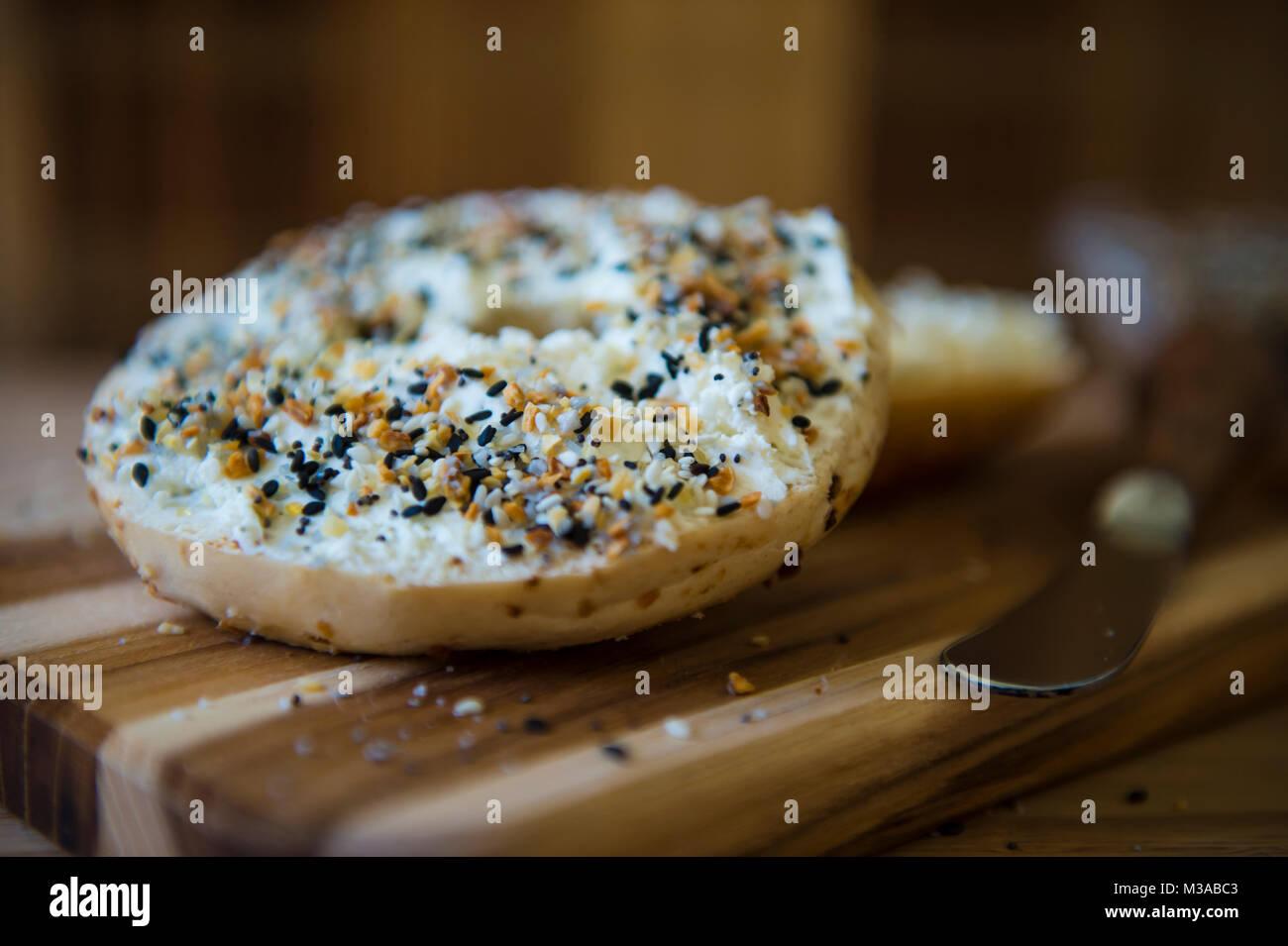 Food Photography/Bagel/Art - Stock Image