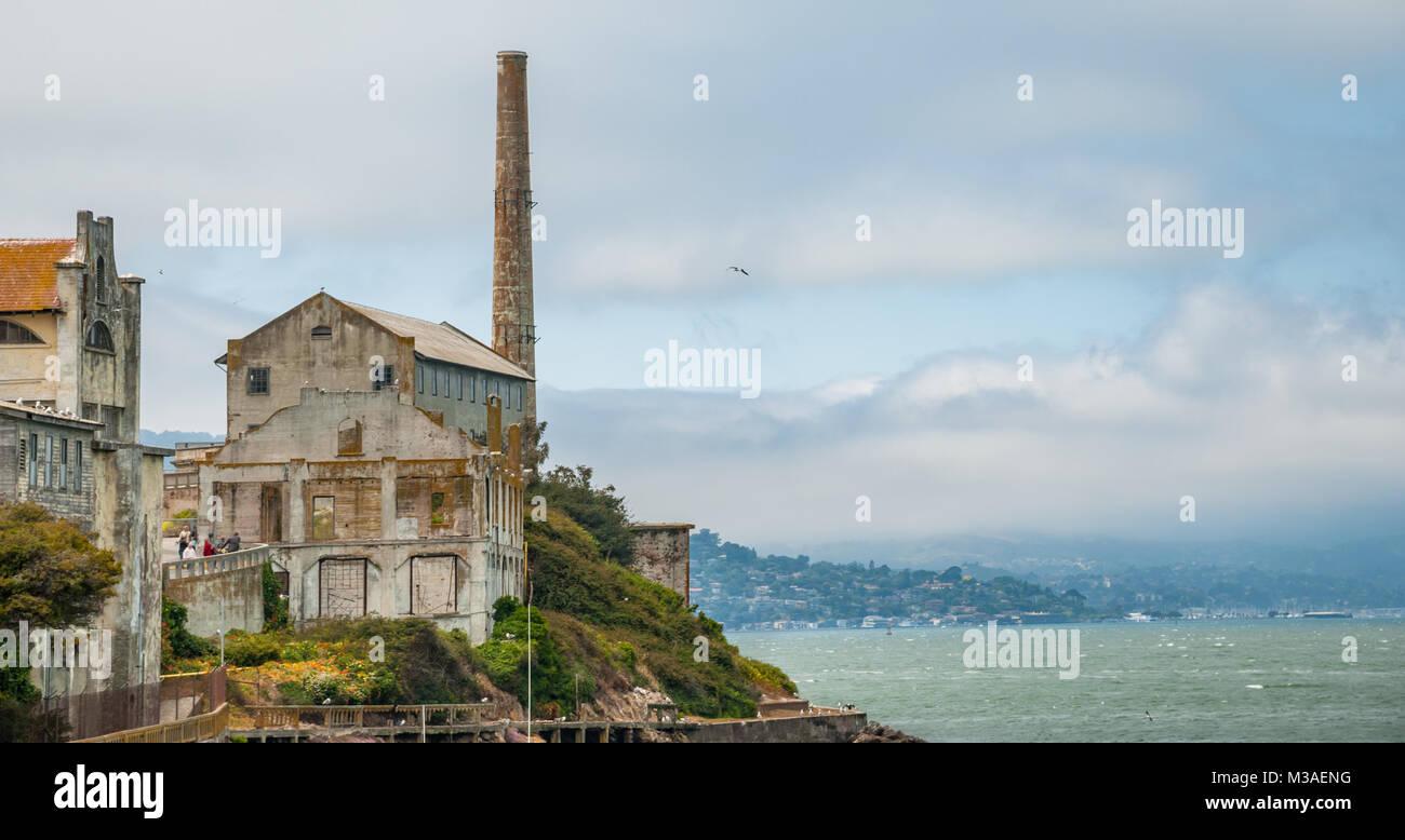Alcatraz Island, Alcatraz Views, San Francisco Bay, California - Stock Image