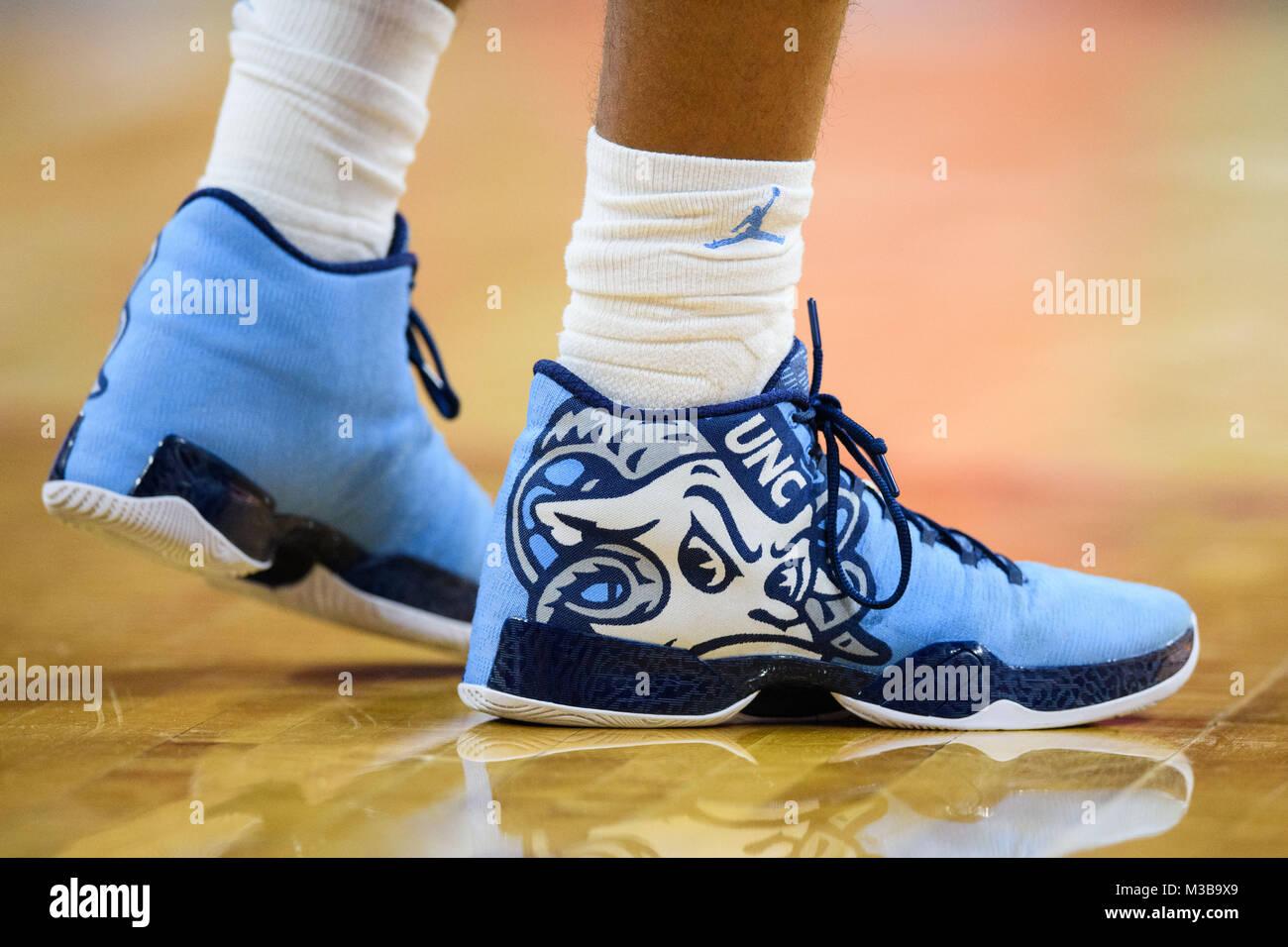 The shoes of North Carolina Tar Heels