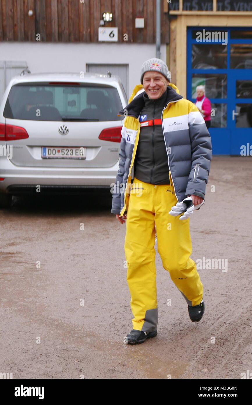 Andreas Goldberger, Ex-Skispringer, TV-Experte beim Weltcup in Neustadt Stock Photo
