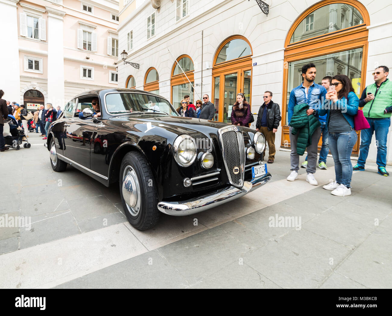 TRIESTE, ITALY - APRIL 3: Photo of Lancia Aurelia b20 on the Trieste Opicina Historic. APRIL 3, 2016. Trieste Opicina - Stock Image