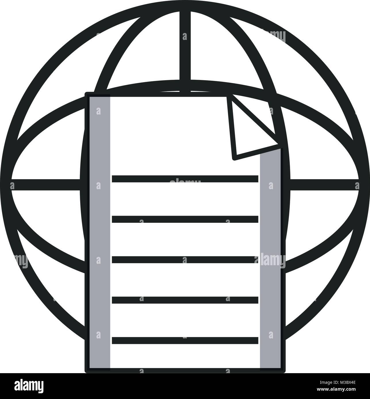 Global document sphere - Stock Vector
