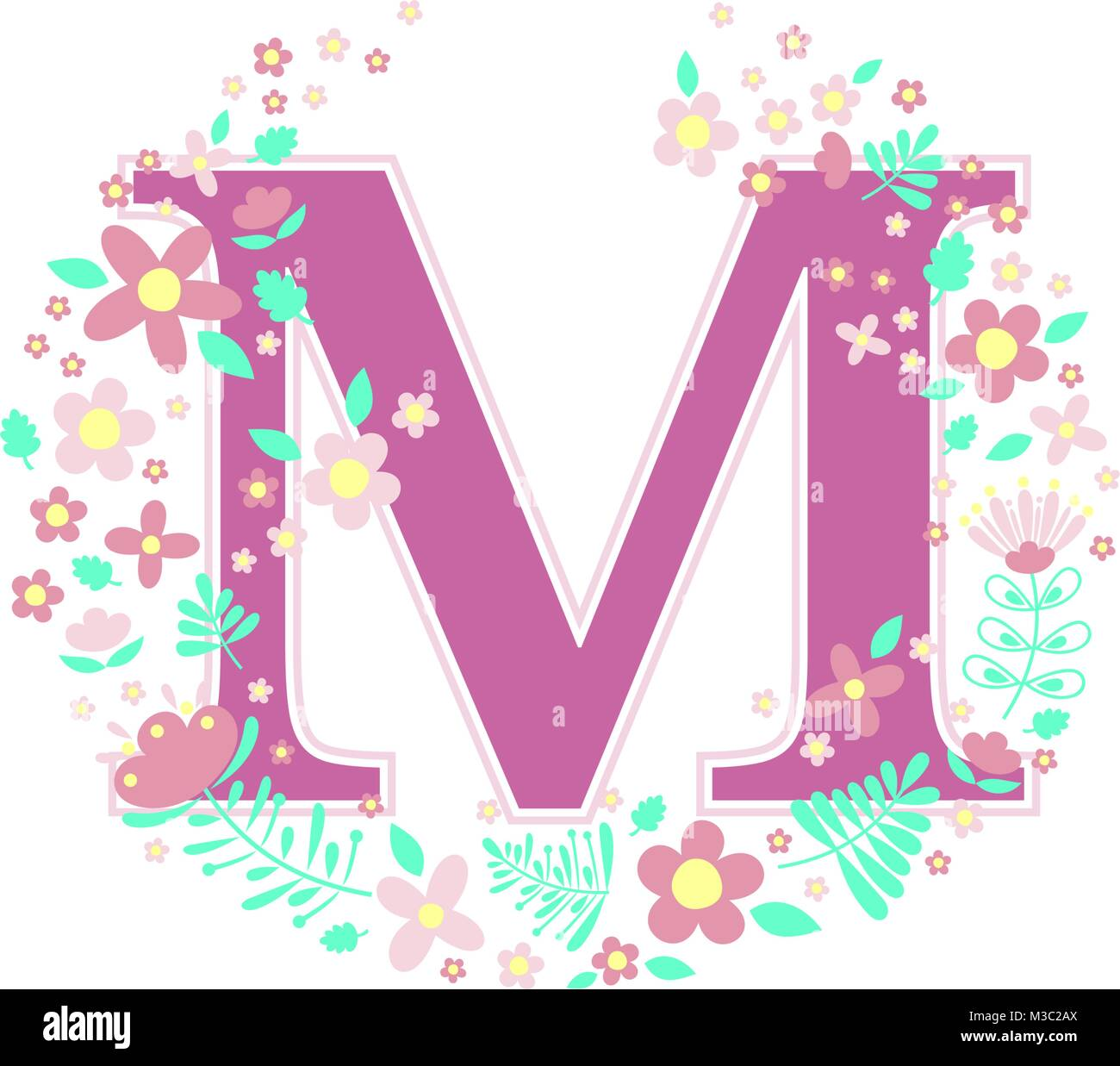 Letter M Stock Vector Images - Alamy