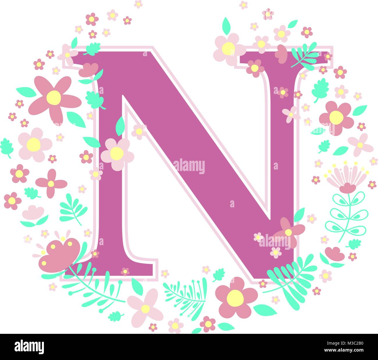 Letter N Flowers Stock Photos & Letter N Flowers Stock Images - Alamy