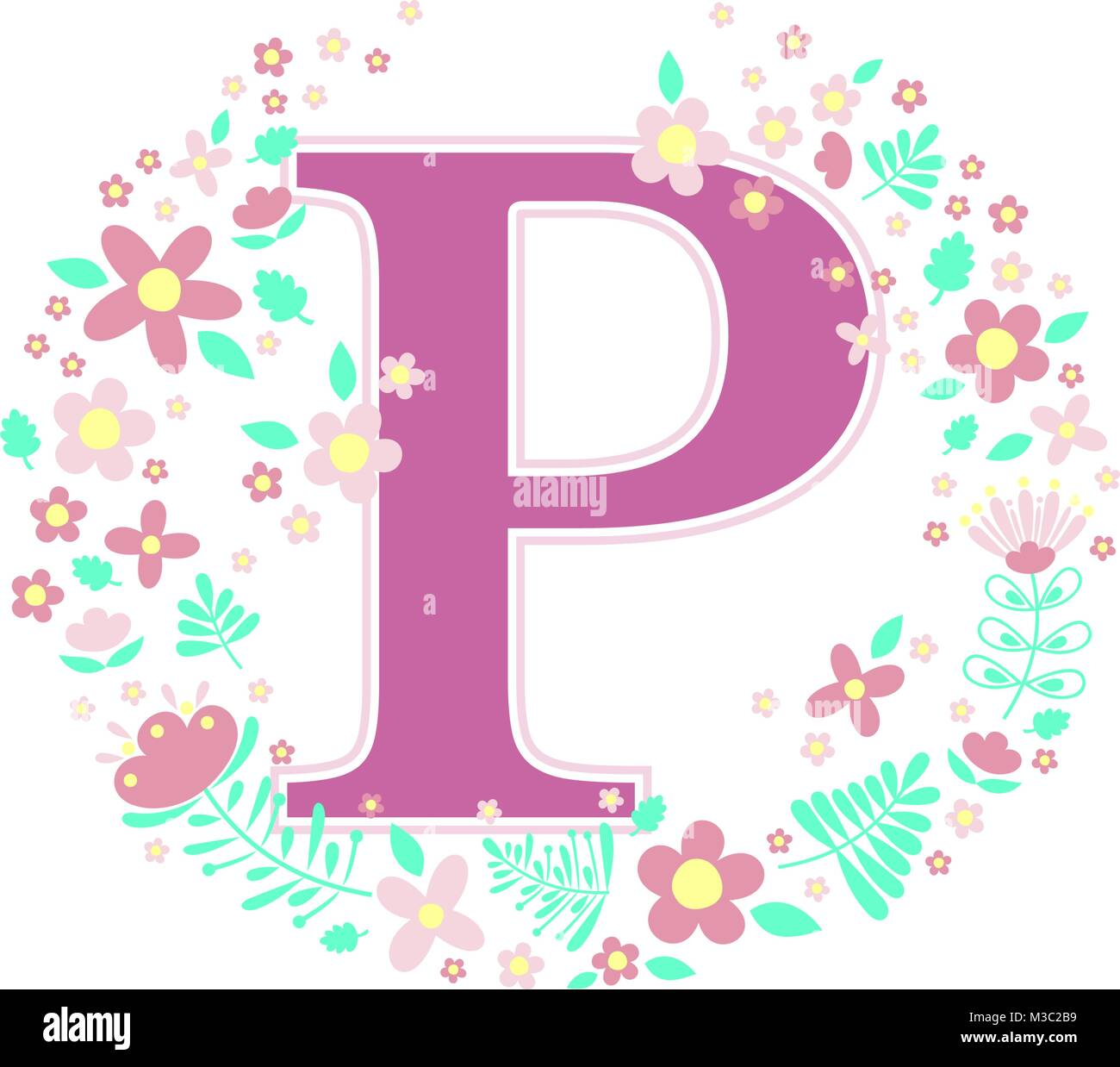 Letter P Stock Vector Images - Alamy