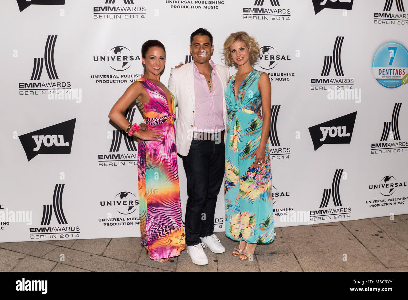 Silva Gonzalez, Danika Wist und Stefanie Schanzleh der  Hot Banditoz in neuer Besetzung (Band)  bei der Musik- und - Stock Image