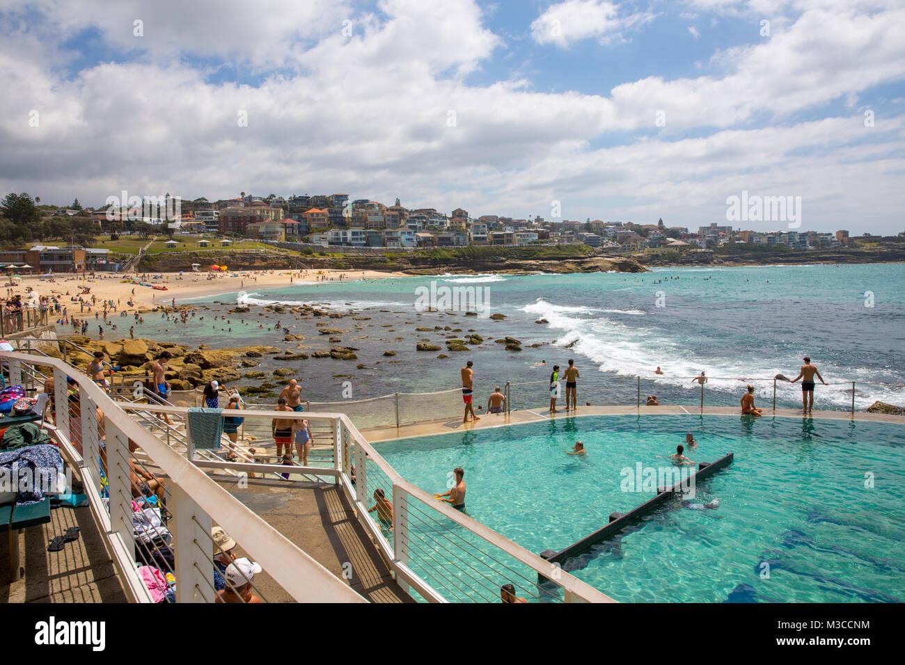 Bronte beach and ocean swimming pool in Sydney eastern