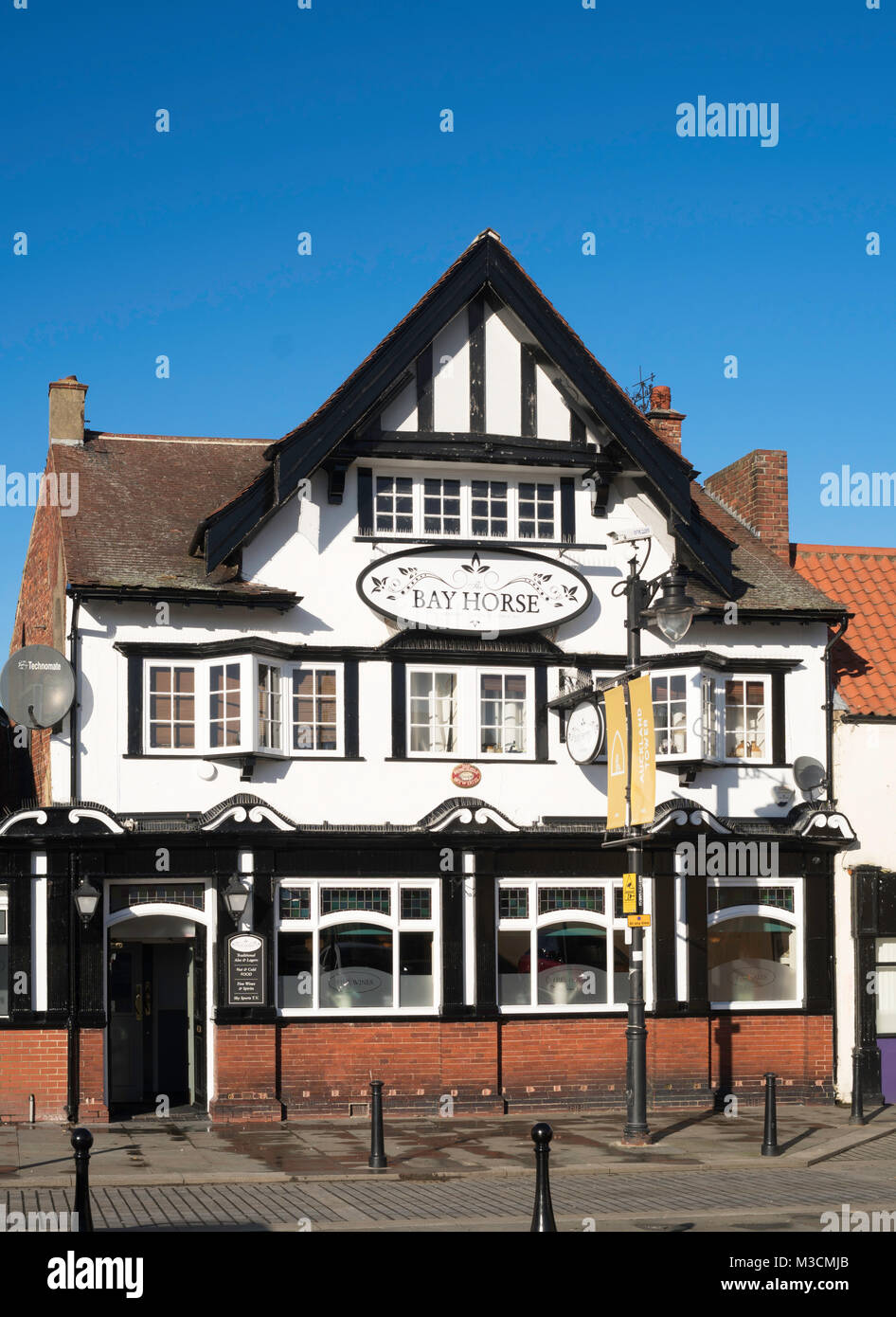 The  Bay Horse Public House, Bishop Auckland, Co. Durham, England, UK - Stock Image
