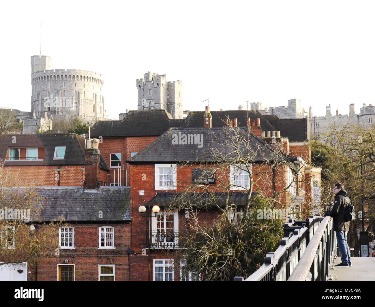 Windsor Castle, Windsor, Berkshire, UK. - Stock Image