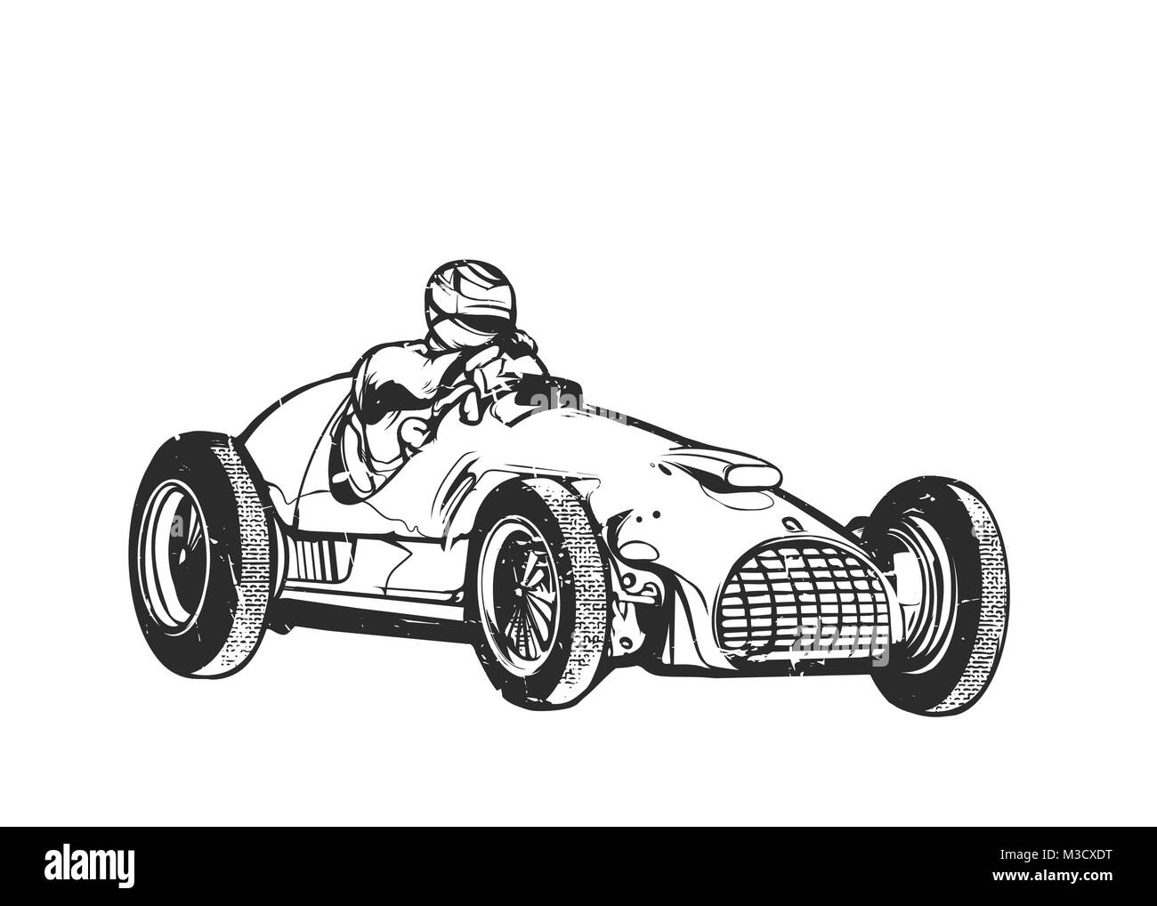 Vintage Racing Car Illustration High Resolution Stock Photography And Images Alamy