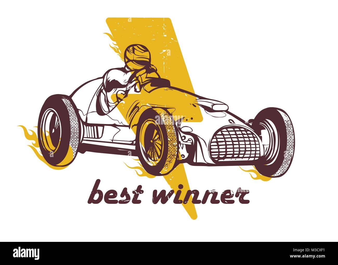 Vintage sport racing car - Stock Image