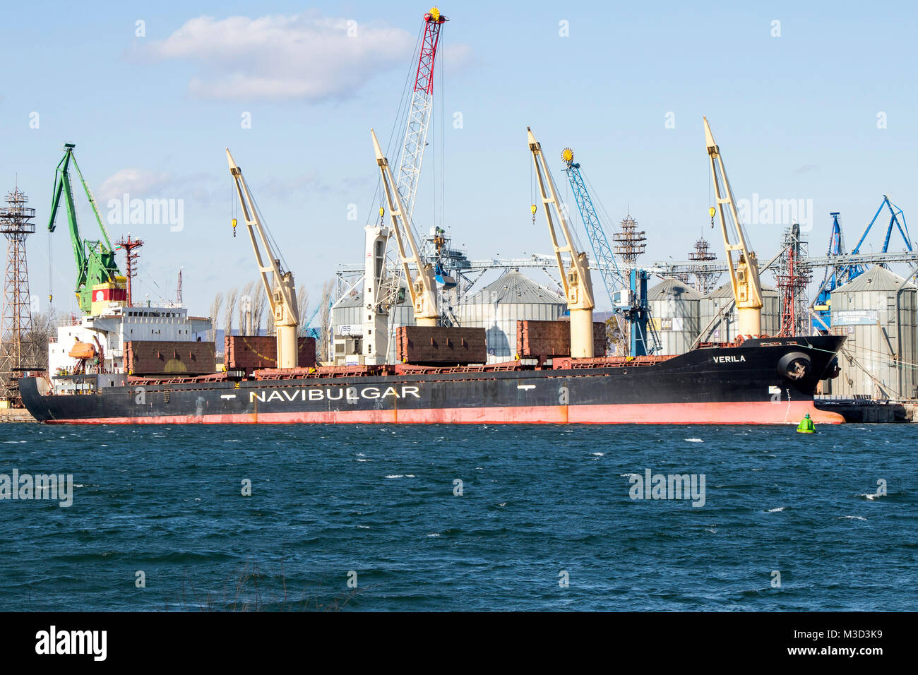 sea tanker NAVIBULGAR in the port of bulgaria 09.02.2018 - Stock Image