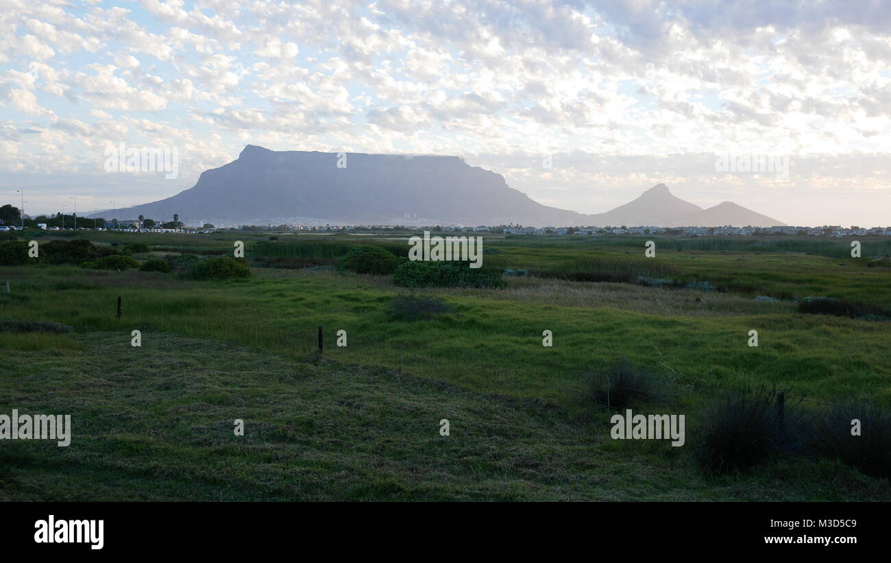 table mountain cape town south africa - Stock Image