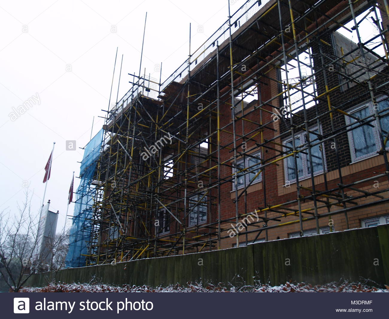 The Building Work On The New Care Home In The Centre Of Aldridge - Aldridge, West Midlands - Stock Image