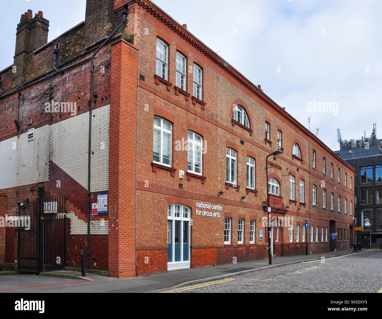 National Centre for Circus Arts, Coronet Street, London, N1, England, UK - Stock Image