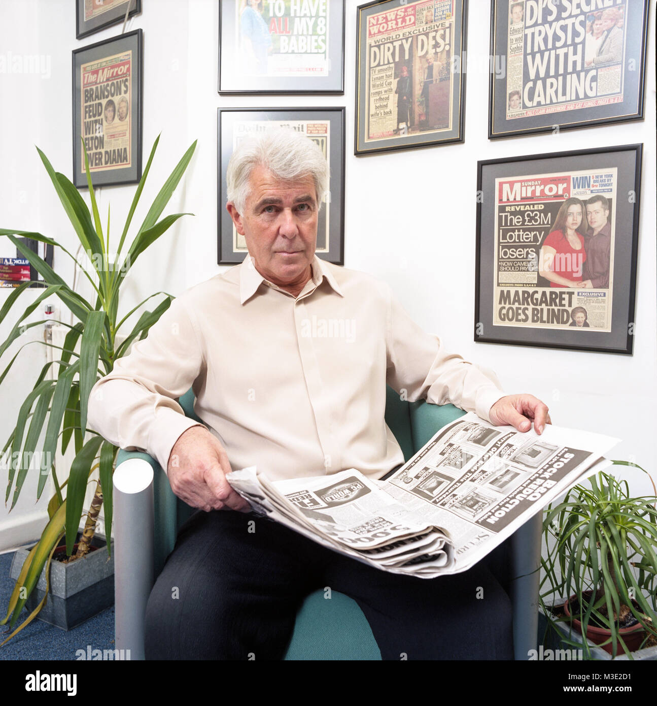 "Portrait of Max Clifford English publicist  famous for his ""kiss-and-tell"" stories to tabloid newspapers. Photographed Stock Photo"