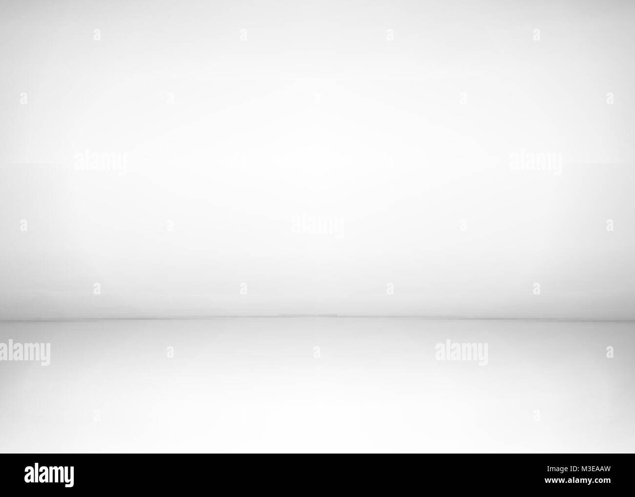 Studio room interior. White wall and floor background. Clean workshop for photography or presentation. Vector illustration - Stock Vector