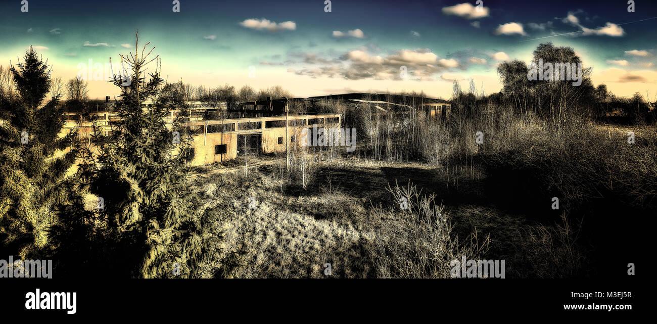 World War 2 Old Military Base taken in 2015 - Stock Image
