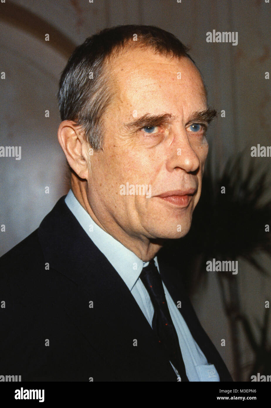 JÖRN DONNER Swedish speaking Finnish writer has among other things served as director of the Swedish FilmInstituet - Stock Image