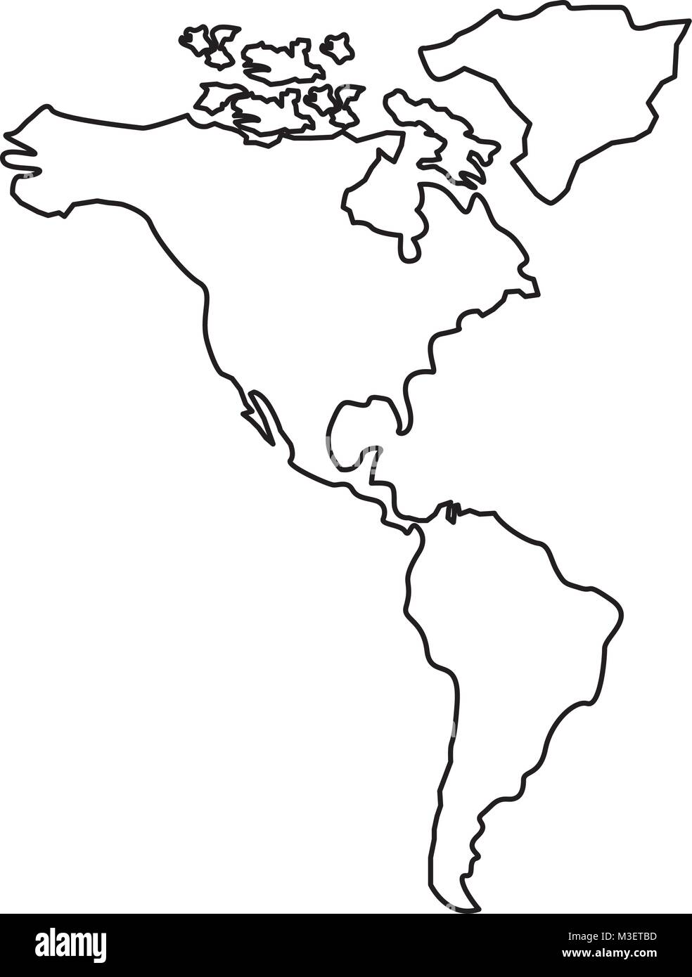 North America Map Black And White Stock Photos Images Alamy