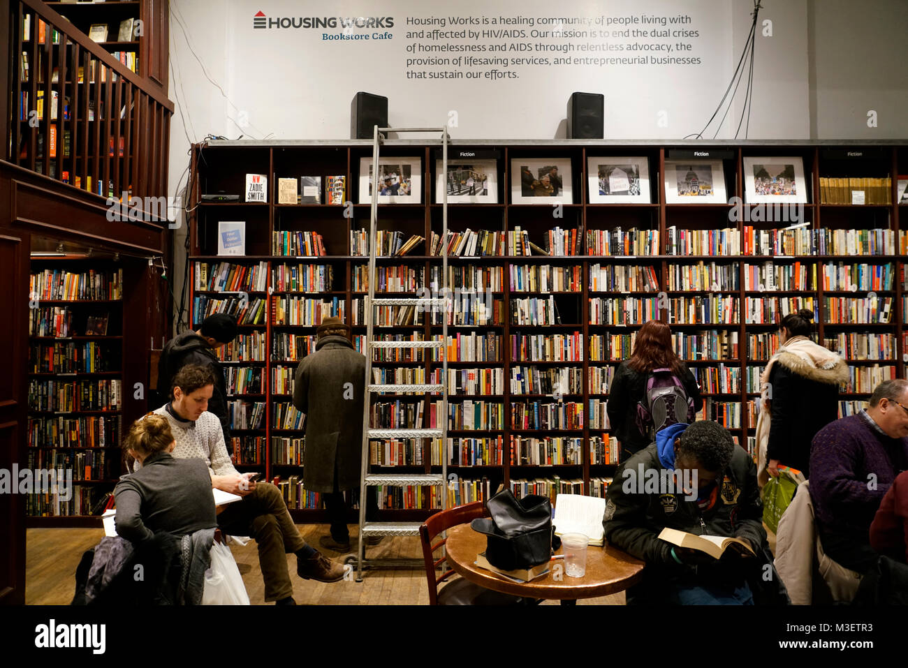Interior View Housing Works Bookstore Cafe.Soho.Manhattan.New York City.USA