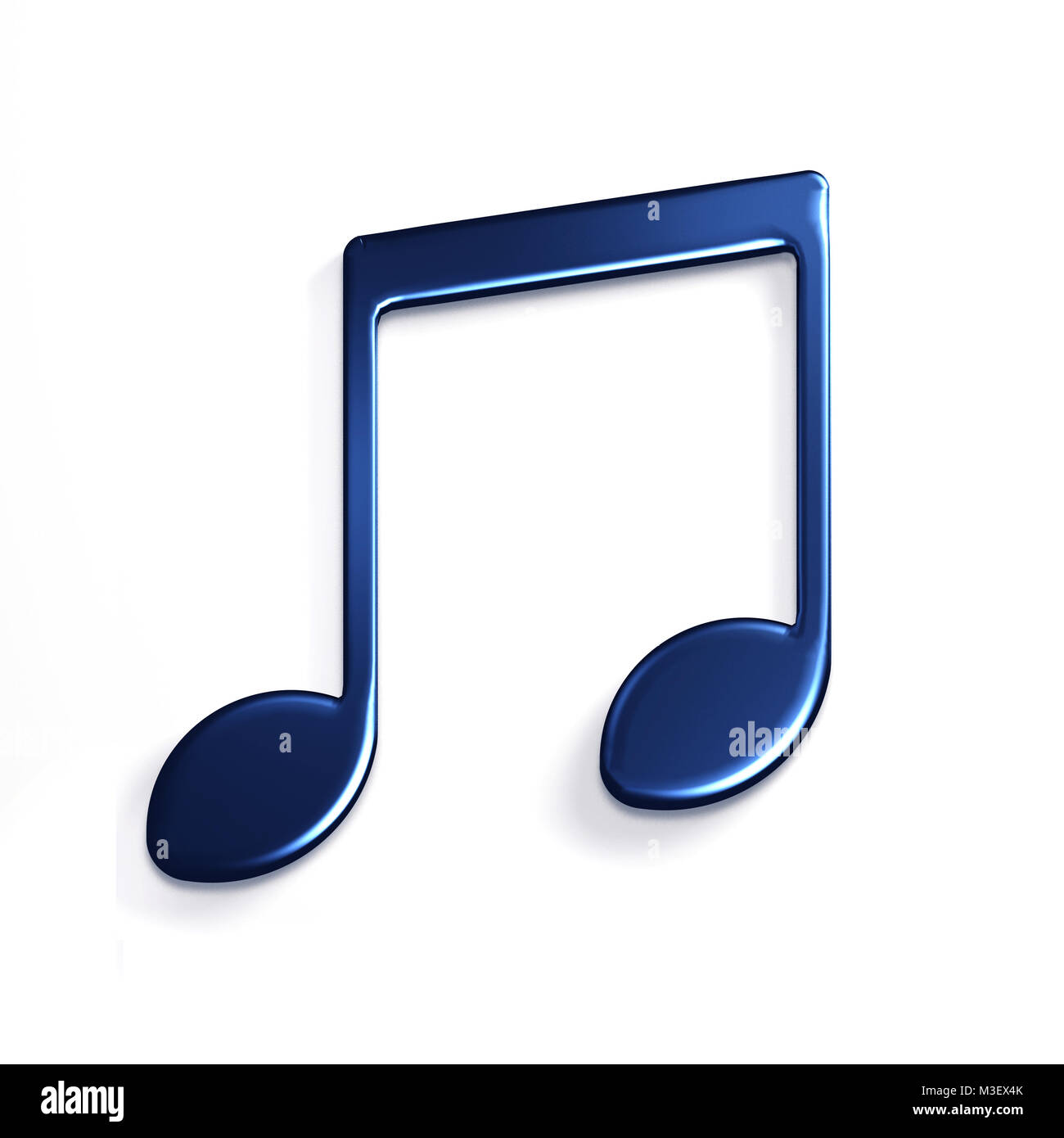 Music Note or Eight Note Icon. 3D Rendering Illustration - Stock Image