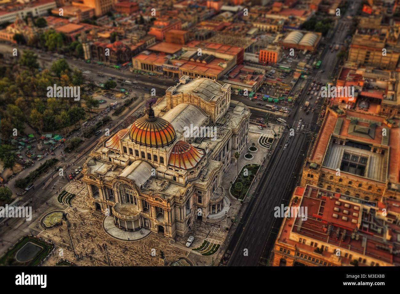 Palacio de Bellas Artes Mexico City taken in 2015 - Stock Image