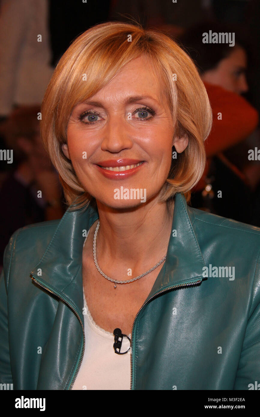 Lanz, Sendung vom 25.03.2010, Thema: Die Welterklaerer, Petra Gerster - Stock Image