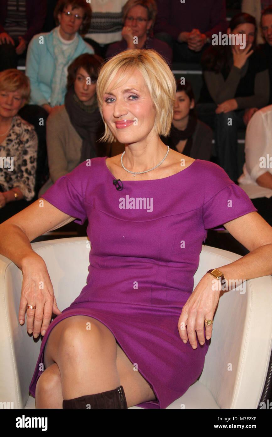 Lanz, Aufzeichnung vom 01.12.2010, Hamburg, Petra Gerster - Stock Image