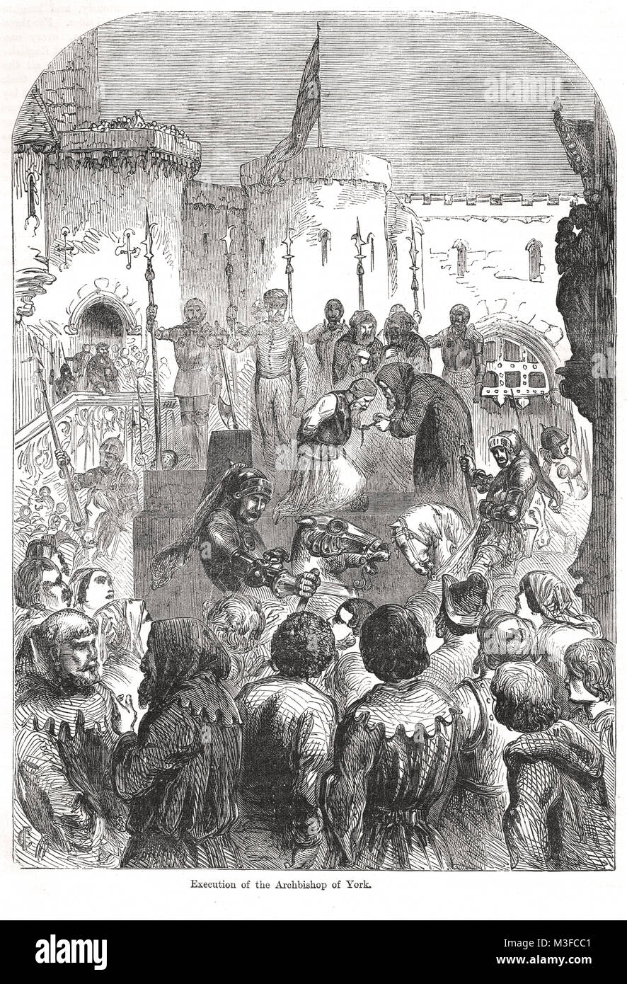 Execution of the Archbishop of York, Richard le Scrope, 8 June 1405, Northern Rising against King Henry IV - Stock Image
