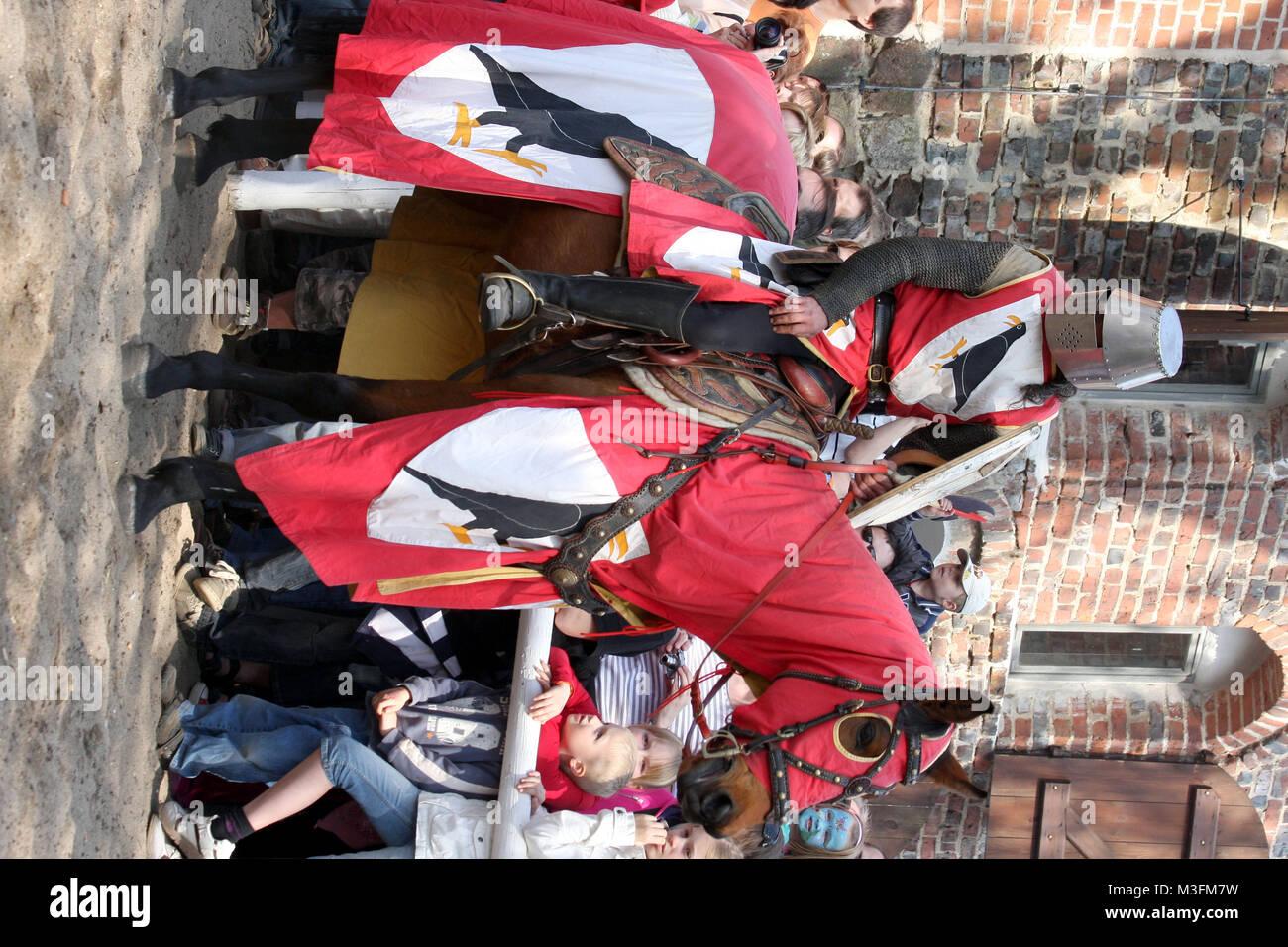 15. Ritterfestspiele zu Ostern vom 10. bis 13. April auf Burg Rabenstein im Hohen Flaeming, Osterspektaculum, Mittelalter, - Stock Image