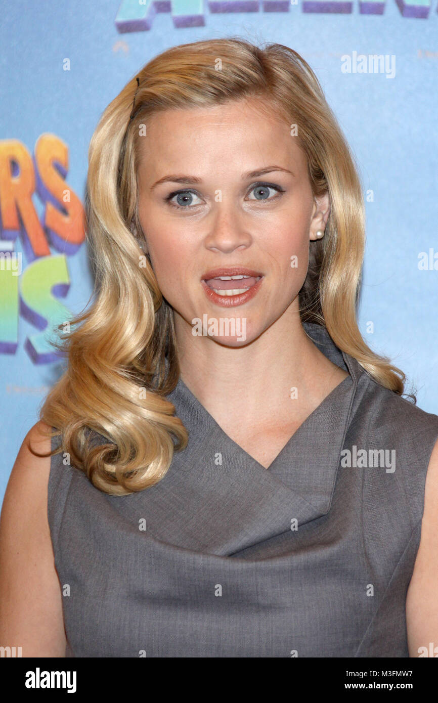 Photocall 'Monsters vs Aliens', Hotel Adlon Berlin, 10.03.2009, Reese Witherspoon - Stock Image