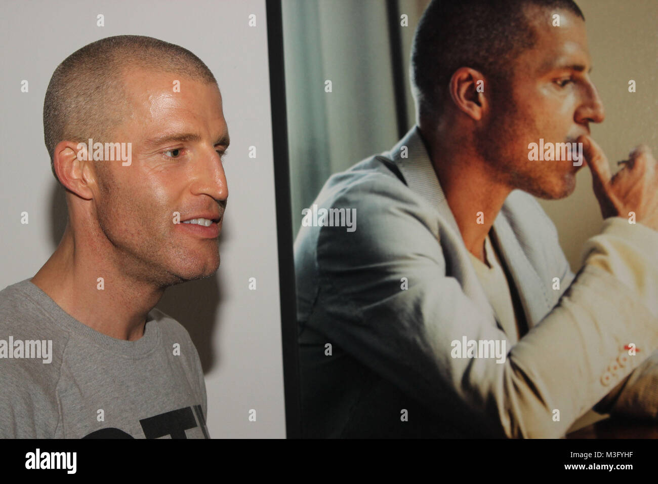 Benjamin Von Stuckrad Barre Till Broenners Ausstellung Faces Of Stock Photo Alamy