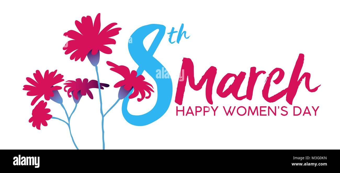 happy women s day floral illustration feminine design