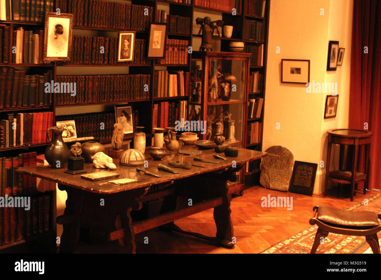 Das Haus von Sigmund Freud & Anna Freud in London - Stock Image