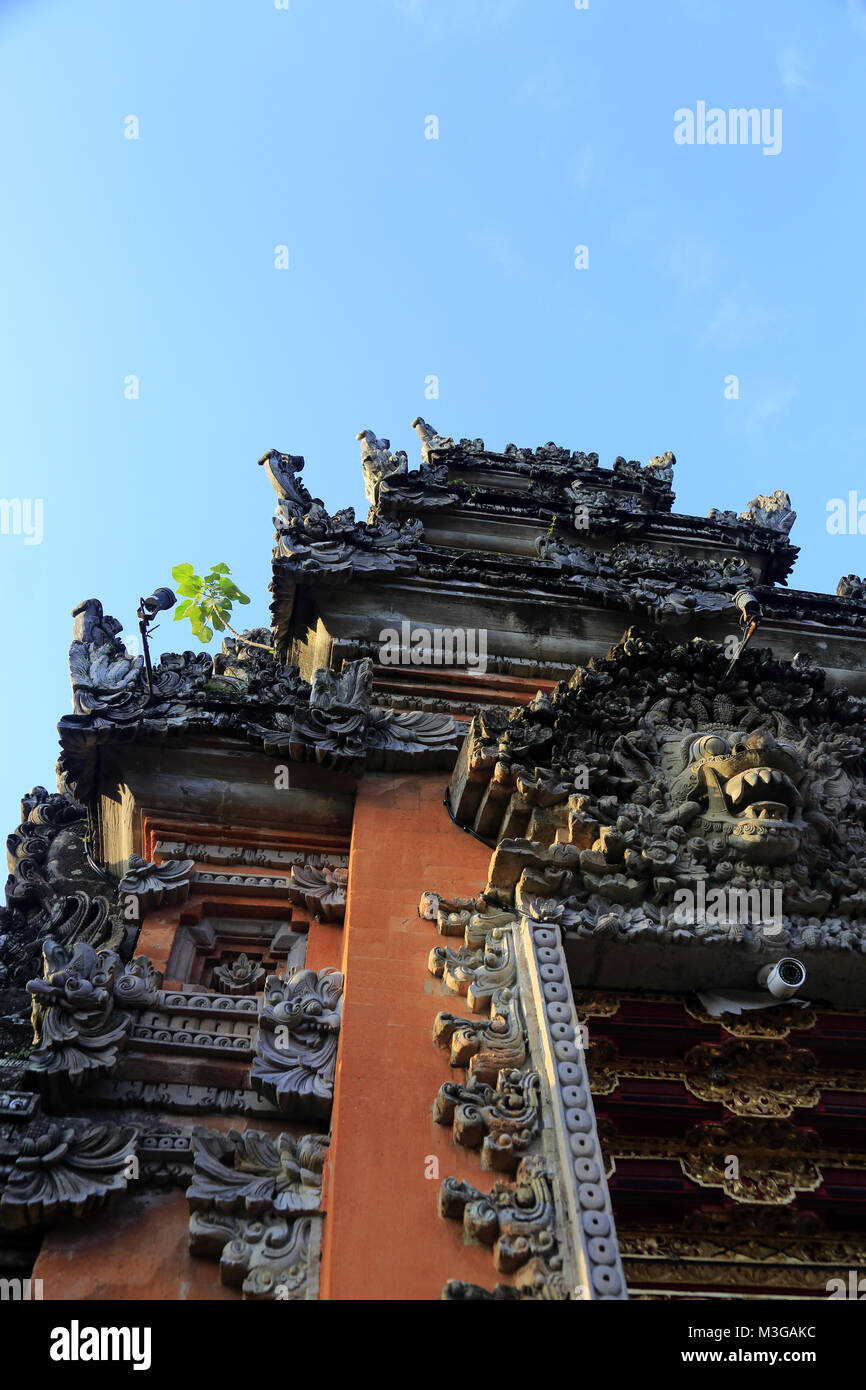 The main entrance of Pura Taman Saraswati Temple.Ubud.Bali.Indonesia - Stock Image