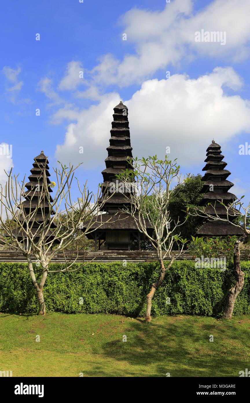 Pura Taman Ayun Temple. Meru Towers in main sanctum. Mengwi. Bali.Indonesia. Stock Photo