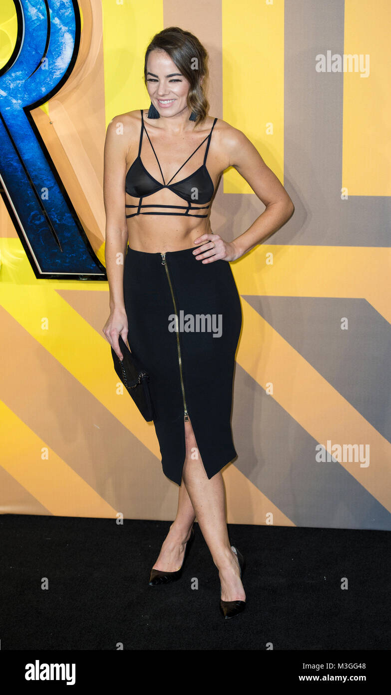 Emma Conybeare attends the European Premiere of Marvel Studios' 'Black Panther' at the Eventim Apollo, - Stock Image