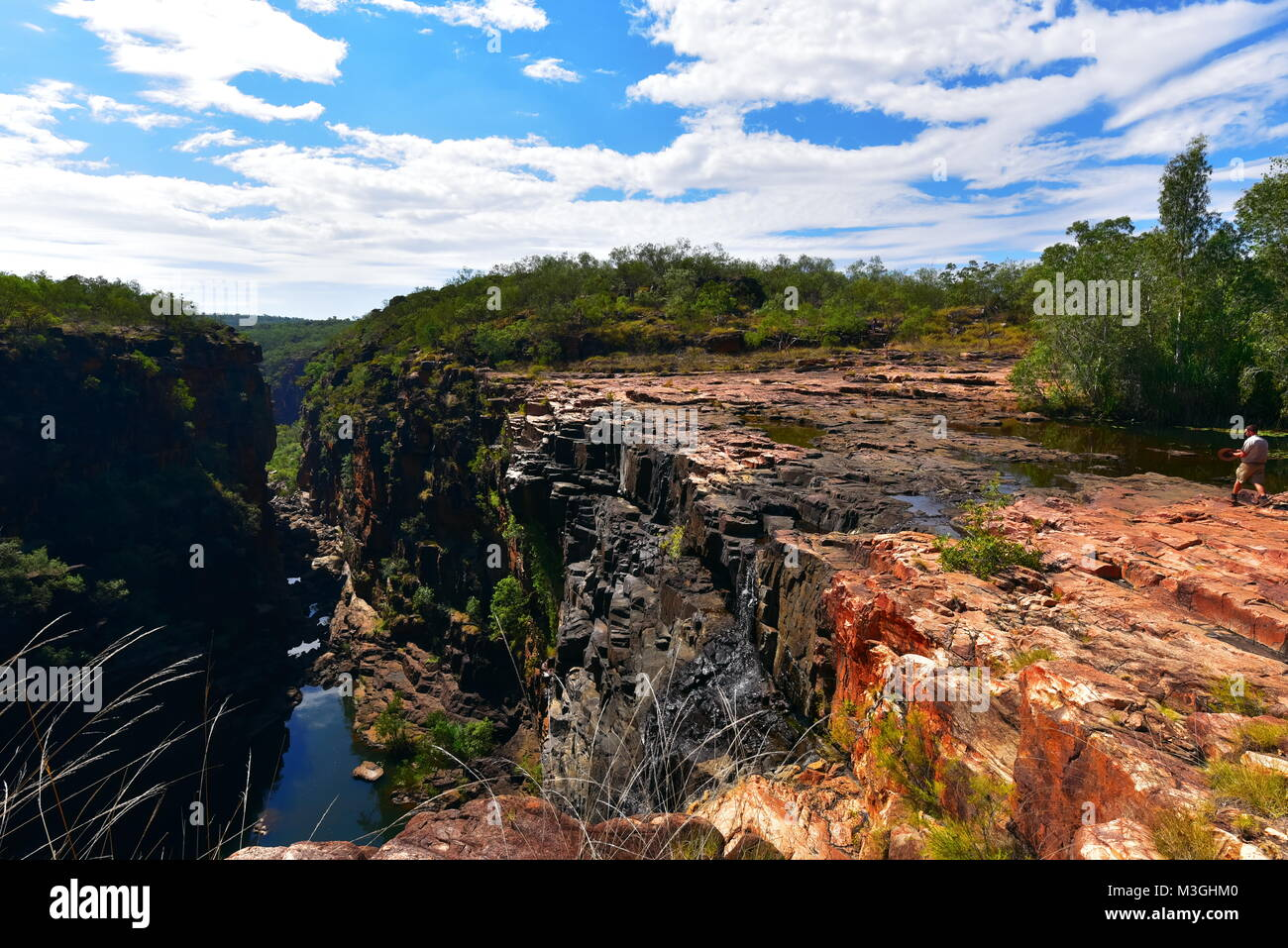 Magnificent  Big Mertins Gorge ,and nearby top of the Mitchell Falls Gorges in Western Australia - Stock Image