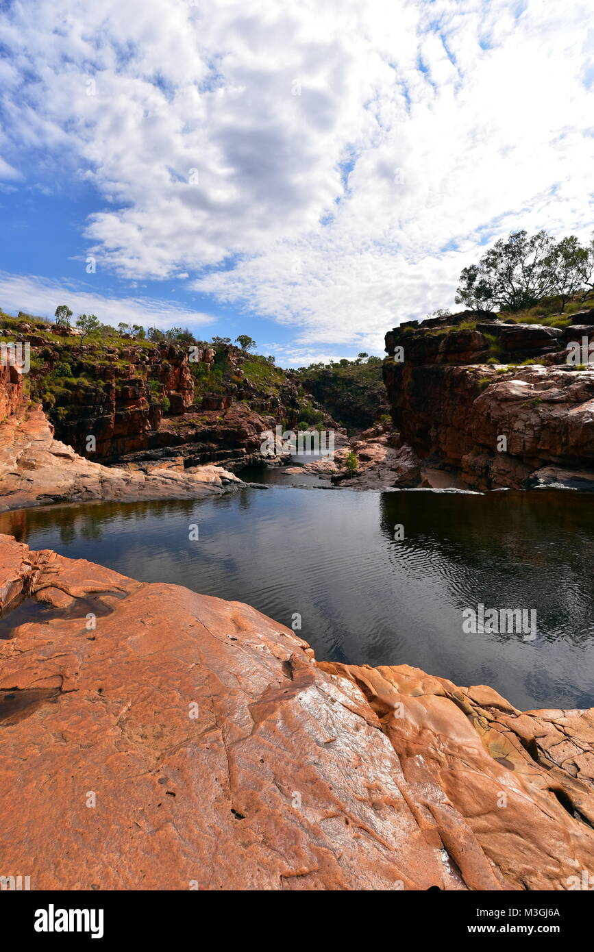 Magnificent Bell , Galvans,Mertinsand Katherine and Echinda gorges in Western Australia,  Bell Gorge river,King - Stock Image