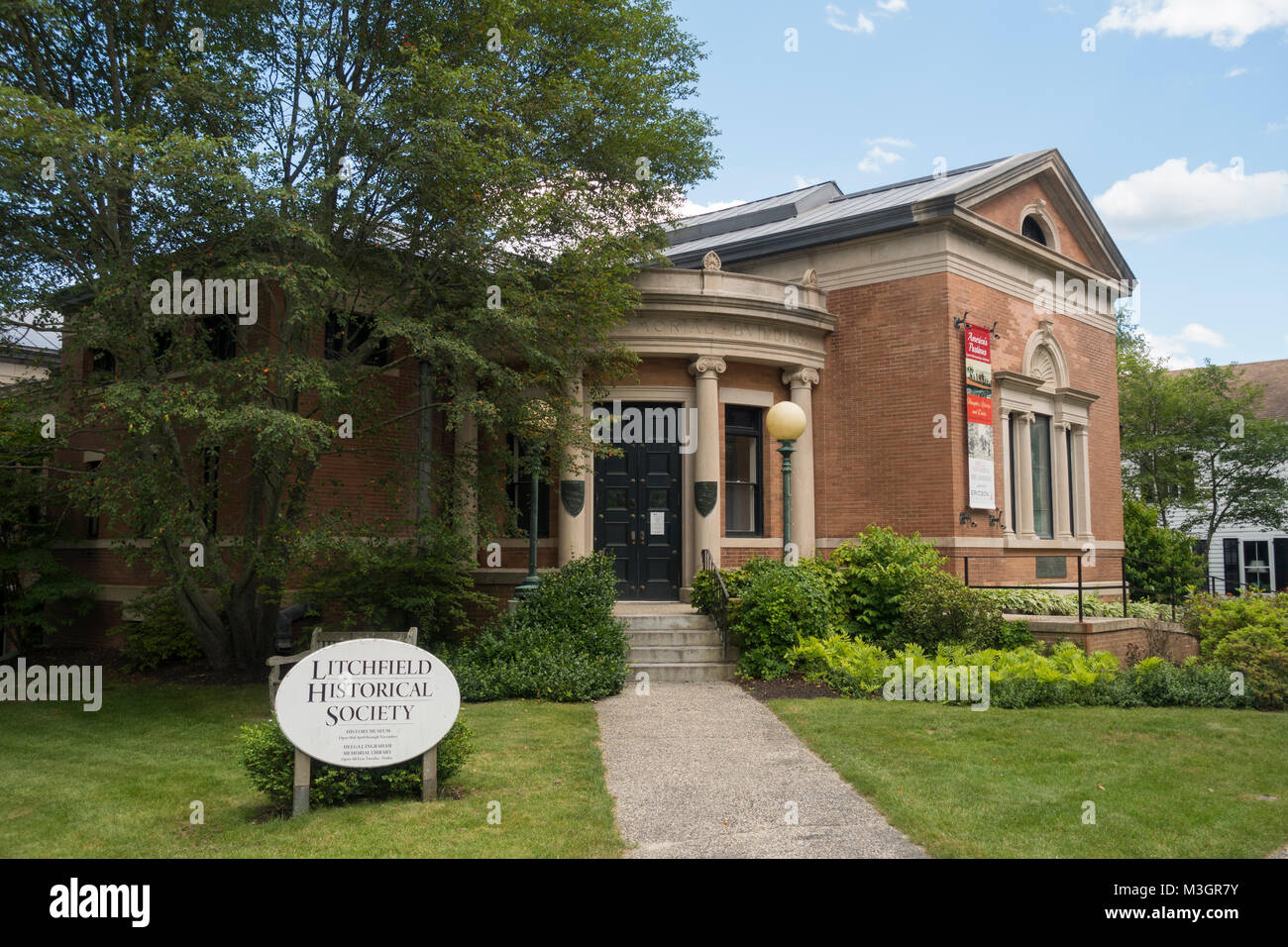 Litchfield Historical society building CT - Stock Image