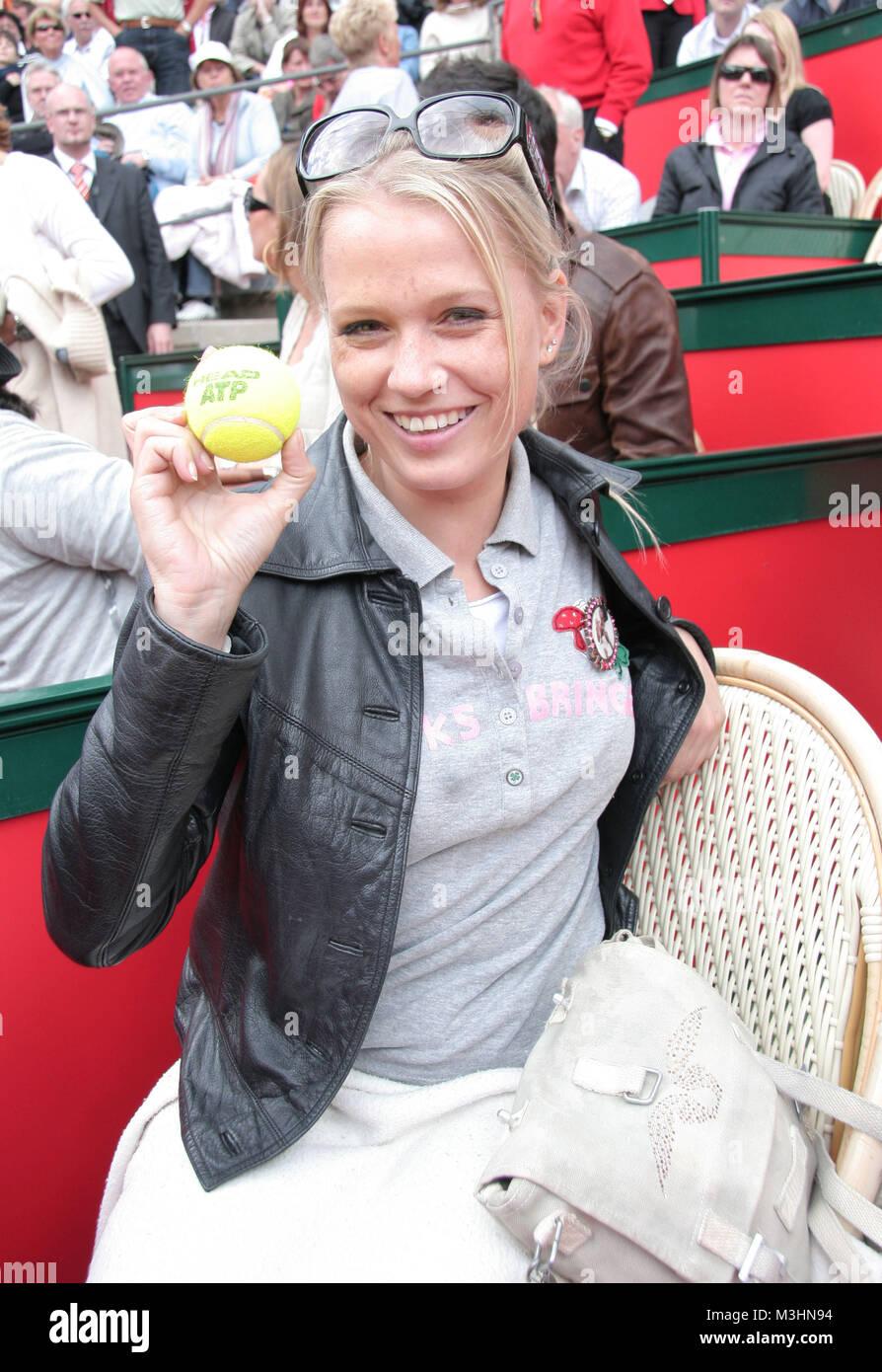 Nova Meierhenrich erwischte einen Ball    ATP Mater Series am Rothenbaum Hamburg - Finale von Rafael Nadal und Roger - Stock Image