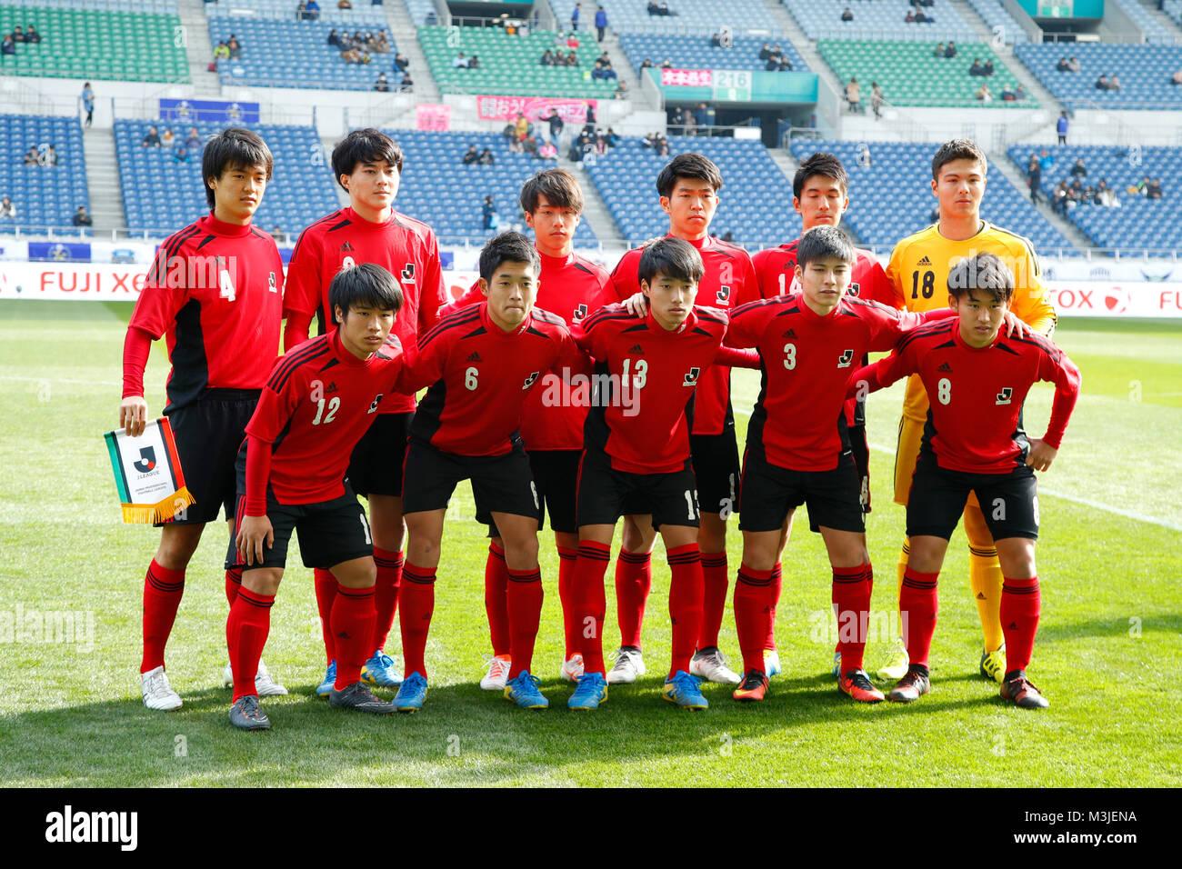 Saitama Japan 10th Feb 2018 U18j U 18 J League Team Group Line