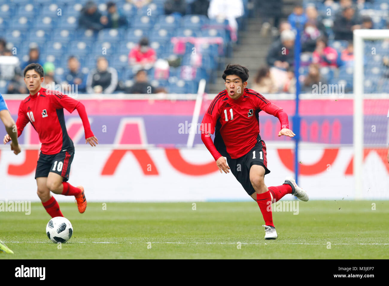 Saitama Japan 10th Feb 2018 Taisei Miyashiro U 18 J League