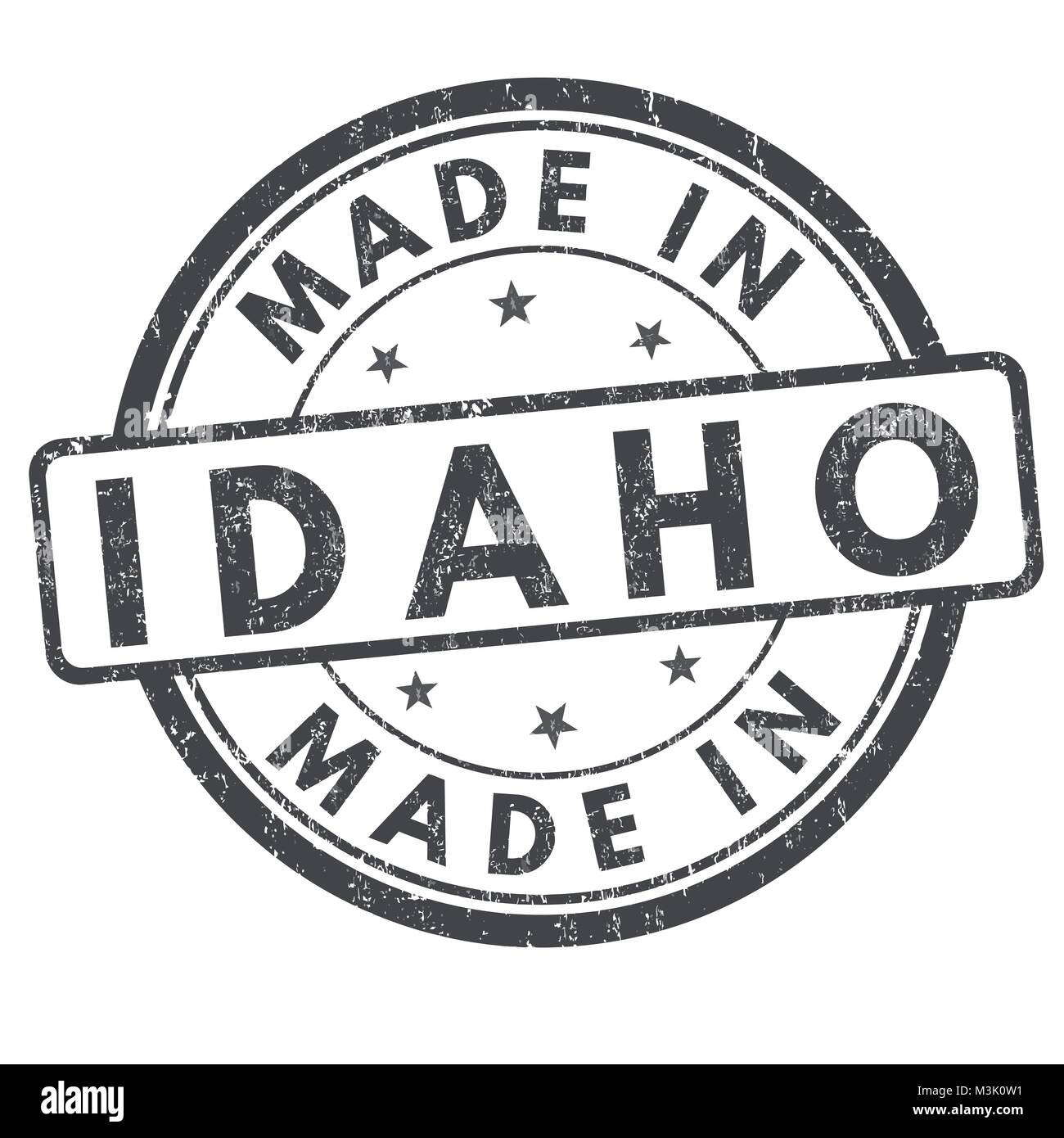 Made in Idaho sign or stamp on white background, vector illustration - Stock Vector